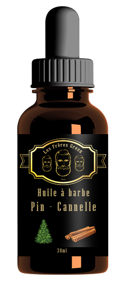 beard oil pine and cinnamon